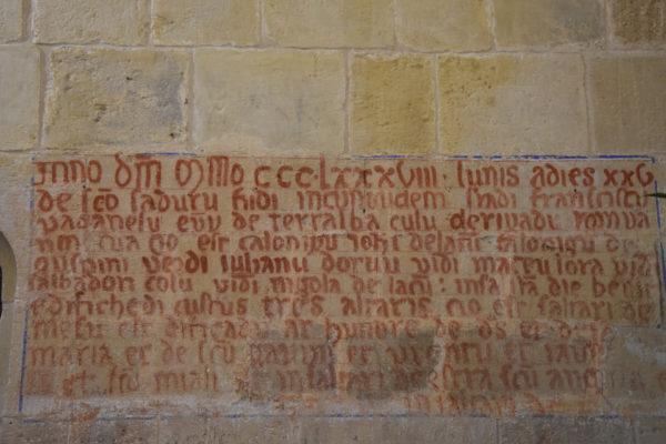 5 Scritta XIV secolo