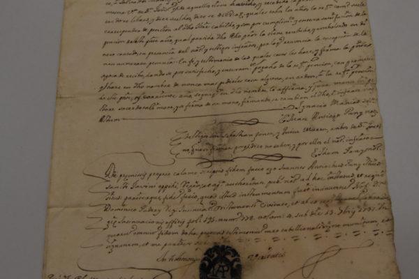2 Atto Notarile del 1747
