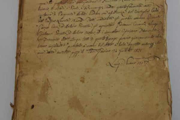4 Documento del 1821